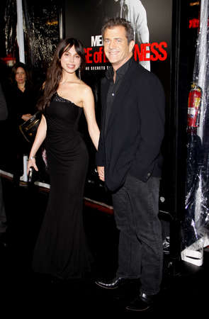 mel: Mel Gibson and Oksana Grigorieva at the Los Angeles premiere of Edge Of Darkness held at the Grauman Chinese Theatre in Hollywood on January 26, 2010. Editorial