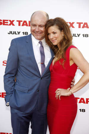 rob: Rob Corddry and Sandra Corddry at the Los Angeles premiere of Sex Tape held at the Westwood Regency Theatre in Los Angeles, United States, 100714.