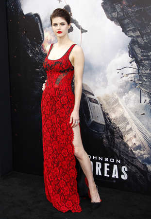 premiere: Alexandra Daddario at the Los Angeles premiere of San Andreas held at the TCL Chinese Theater IMAX in Hollywood, USA on May 26, 2015.