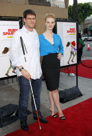 woll: HOLLYWOOD, CA - JULY 19, 2012: Deborah Ann Woll and E.J. Scott at the Los Angeles premiere of Ruby Sparks held at the Egyptian Theatre in Hollywood, USA on July 19, 2012. Editorial
