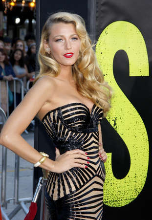 Blake Lively at the Los Angeles premiere of Savages held at the Mann Village Theater in Westwood on June 25, 2012. Redakční