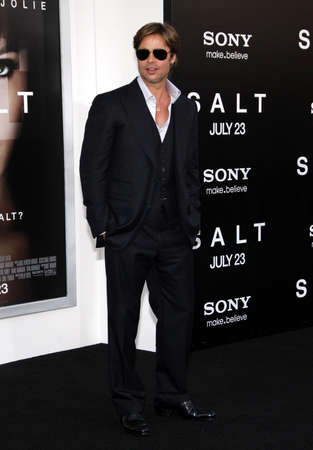 brad pitt: Brad Pitt at the Los Angeles premiere of Salt held at the Graumans Chinese Theater in Hollywood on July 19, 2010.
