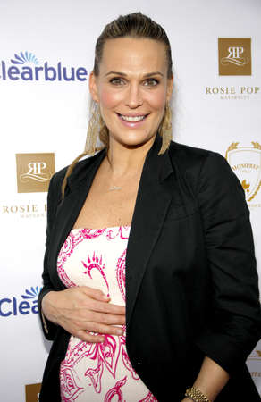 SANTA MONICA, CA - MARCH 29, 2012: Molly Sims at the Rosie Pope Maternity Store Opening in Santa Monica, USA on March 29, 2012.