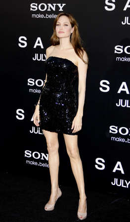 Angelina Jolie at the Los Angeles premiere of Salt held at the Graumans Chinese Theater in Hollywood on July 19, 2010.