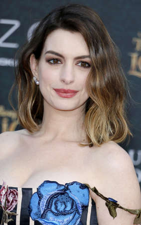 hathaway: Anne Hathaway at the Los Angeles premiere of 'Alice Through The Looking Glass' held at the El Capitan Theater in Hollywood, USA on May 23, 2016.
