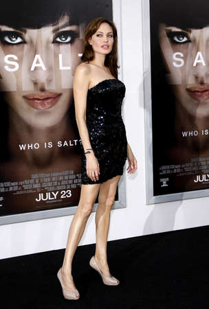 angelina jolie: Angelina Jolie at the Los Angeles premiere of Salt held at the Graumans Chinese Theater in Hollywood on July 19, 2010.