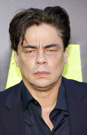 june 25: Benicio Del Toro at the Los Angeles premiere of Savages held at the Mann Village Theater in Westwood on June 25, 2012. Editorial