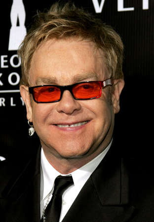 honoring: Sir Elton John attends the Rodeo Drive Walk Of Style Award honoring Gianni and Donatella Versace held at the Beverly Hills City Hall in Beverly Hills, California on February 8, 2007.