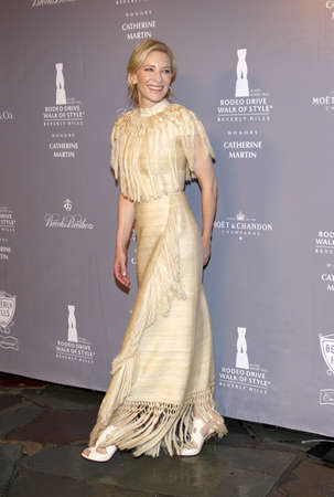 honors: Cate Blanchett at the Rodeo Drive Walk Of Style honors Catherine Martin held at the Greystone Mansion in Los Angeles, USA on February 28, 2014.