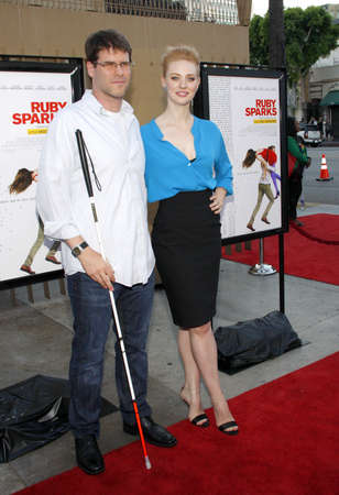 woll: HOLLYWOOD, CA - JULY 19, 2012: Deborah Ann Woll and E.J. Scott at the Los Angeles premiere of 'Ruby Sparks' held at the Egyptian Theatre in Hollywood, USA on July 19, 2012.