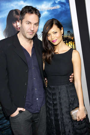 rogue: Thandie Newton and Ol Parker at the Los Angeles premiere of Rogue held at the ArcLight Theater in Los Angeles, USA on March 26, 2013. Editorial
