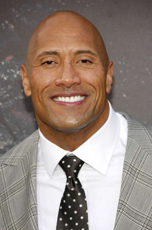 premiere: Dwayne Johnson at the Los Angeles premiere of San Andreas held at the TCL Chinese Theater IMAX in Hollywood, USA on May 26, 2015. Editorial