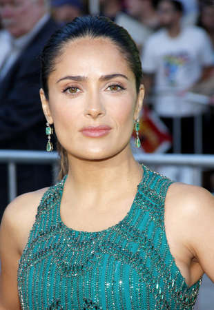june 25: Salma Hayek at the Los Angeles premiere of Savages held at the Mann Village Theater in Westwood on June 25, 2012.