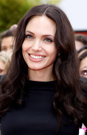 angelina jolie: HOLLYWOOD, CA - NOVEMBER 09, 2008: Angelina Jolie at the Los Angeles premiere of Secrets of the Furious Five held at the Graumans Chinese Theater in Hollywood, USA on November 9, 2008.