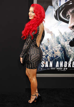 Eva Marie at the Los Angeles premiere of San Andreas held at the TCL Chinese Theater IMAX in Hollywood, USA on May 26, 2015.