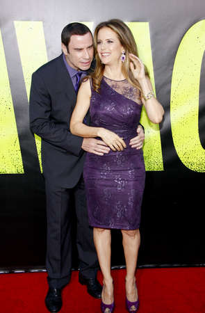 june 25: John Travolta and Kelly Preston at the Los Angeles premiere of Savages held at the Mann Village Theater in Westwood on June 25, 2012.