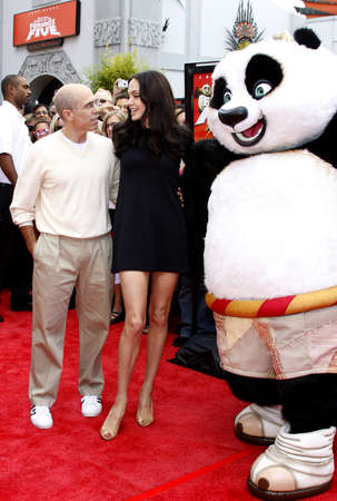 jeffrey: HOLLYWOOD, CA - NOVEMBER 09, 2008: Angelina Jolie and Jeffrey Katzenberg at the Los Angeles premiere of Secrets of the Furious Five held at the Graumans Chinese Theater in Hollywood, USA on November 9, 2008.