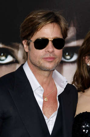 brad pitt: Brad Pitt at the Los Angeles premiere of Salt held at the Graumans Chinese Theatre in Hollywood, USA on July 19, 2010. Editorial