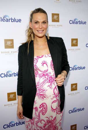 Molly Sims at the Rosie Pope Maternity Store Opening in Santa Monica, USA on March 29, 2012. Editorial