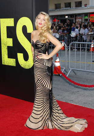 june 25: Blake Lively at the Los Angeles premiere of Savages held at the Mann Village Theatre in Westwood, USA on June 25, 2012.