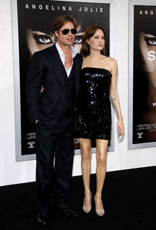 angelina jolie: Angelina Jolie and Brad Pitt at the Los Angeles premiere of Salt held at the Graumans Chinese Theatre in Hollywood, USA on July 19, 2010.