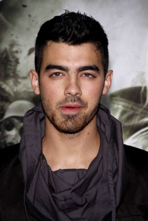 Joe Jonas at the Los Angeles premiere of Sucker Punch held at the Graumans Chinese Theater in Hollywood on March 23, 2011.