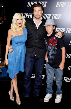 Tori Spelling at the Los Angeles premiere of Star Trek held at the Graumans Chinese Theater in Hollywood on April 30, 2009. Editorial