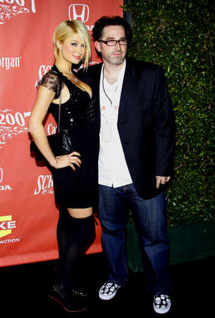 Paris Hilton and Darren Lynn Bousman at the 2007 Spike TVs Scream Fest held at the Greek Theater in Hollywood on October 19, 2007.