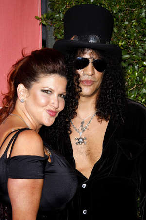 slash: Slash and Perla Ferrar at the 2007 Spike TVs Scream Fest held at the Greek Theater in Hollywood on October 19, 2007.