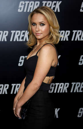 Hayden Panettiere at the Los Angeles premiere of Star Trek held at the Graumans Chinese Theater in Hollywood on April 30, 2009.