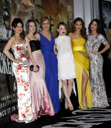 malone: Carla Gugino, Jena Malone, Abbie Cornish, Emily Browning, Jamie Chung and Vanessa Hudgens at the Los Angeles premiere of Sucker Punch held at the Graumans Chinese Theater in Hollywood on March 23, 2011.