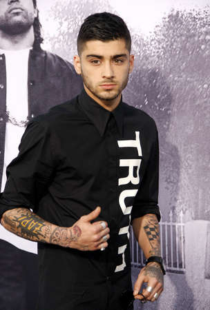 Zayn Malik at the Los Angeles premiere of Straight Outta Compton held at the Microsoft Theater in Los Angeles, USA on August 10, 2015. Editorial
