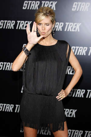 Heidi Klum at the Los Angeles premiere of Star Trek held at the Graumans Chinese Theater in Hollywood on April 30, 2009.
