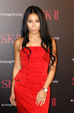 west hollywood: Anggun at the SK-II ChangeDestiny Forum held at the Andaz Hotel in West Hollywood, USA on February 26, 2016.
