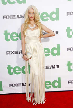 Alexis Knapp at the Los Angeles premiere of Ted held at the Graumans Chinese Theater in Hollywood on June 21, 2012.