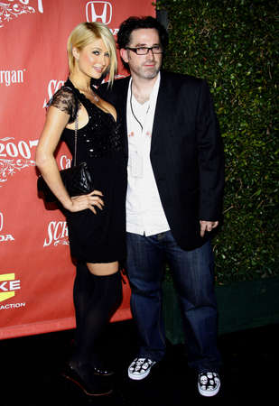 darren: Paris Hilton and Darren Lynn Bousman at the 2007 Spike TVs Scream Fest held at the Greek Theater in Hollywood on October 19, 2007.