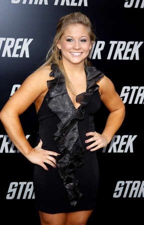 Shawn Johnson at the Los Angeles premiere of Star Trek held at the Graumans Chinese Theater in Hollywood on April 30, 2009.