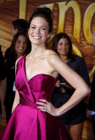 マンディ・ムーアは、11月14日、ハリウッドのエル・キャピタン劇場で開催された「もつれ」のロサンゼルス・プレミアにて2010。