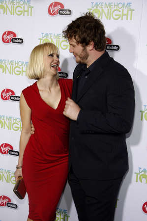 tonight: Anna Faris and Chris Pratt at the Los Angeles premiere of Take Me Home Tonight held at the Regal LA Live Stadium 14 in Los Angeles on March 2, 2011. Editorial