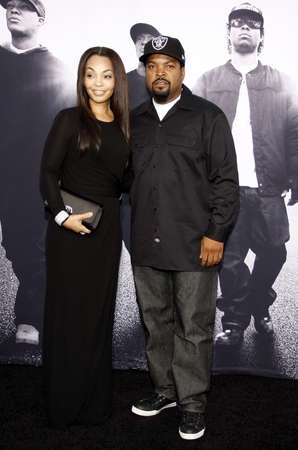 woodruff: Ice Cube and Kimberly Woodruff at the Los Angeles premiere of Straight Outta Compton held at the Microsoft Theater in Los Angeles, USA on August 10, 2015.