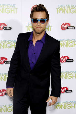 tonight: Lance Bass at the Los Angeles premiere of Take Me Home Tonight held at the Regal LA Live Stadium 14 in Los Angeles on March 2, 2011.