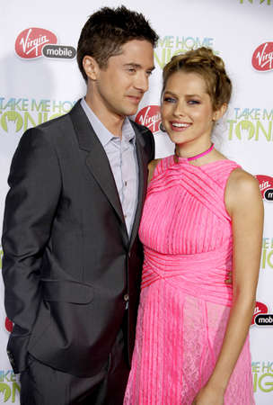 tonight: Topher Grace and Teresa Palmer at the Los Angeles premiere of Take Me Home Tonight held at the Regal LA Live Stadium 14 in Los Angeles on March 2, 2011.