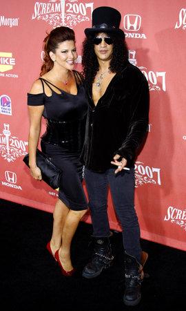 slash: Slash and Perla Ferrar at the 2007 Spike TVs Scream Fest held at the Greek Theater in Hollywood on October 19, 2007. Credit: Lumeimages.com