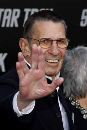 Leonard Nimoy at the Los Angeles premiere of Star Trek held at the Graumans Chinese Theater in Hollywood on April 30, 2009.