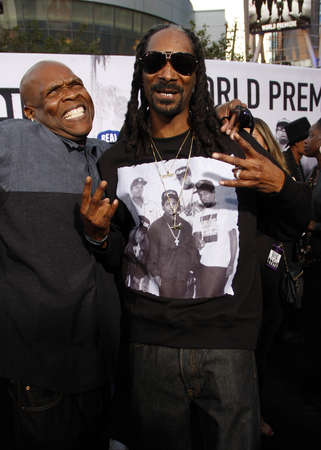 snoop: Snoop Dogg and Big Boi at the Los Angeles premiere of 'Straight Outta Compton' held at the Microsoft Theater in Los Angeles, USA on August 10, 2015.