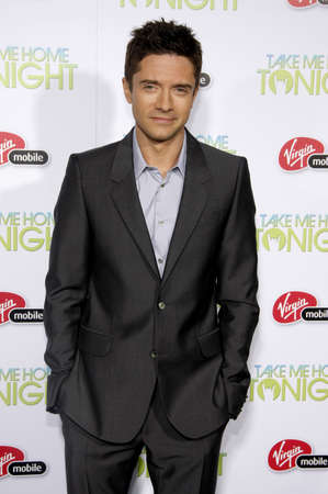 tonight: Topher Grace at the Los Angeles premiere of Take Me Home Tonight held at the Regal LA Live Stadium 14 in Los Angeles on March 2, 2011.