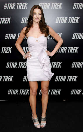 Rachel Nichols at the Los Angeles premiere of Star Trek held at the Graumans Chinese Theater in Hollywood on April 30, 2009. Editorial