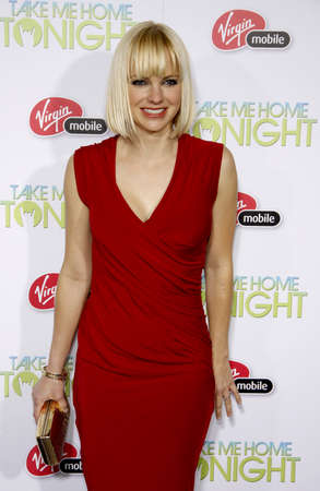 tonight: Anna Faris at the Los Angeles premiere of Take Me Home Tonight held at the Regal LA Live Stadium 14 in Los Angeles on March 2, 2011.