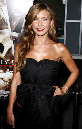 premieres: Audrina Patridge at the Los Angeles premiere of Sorority Row held at the ArcLight Cinemas in Hollywood on September 3, 2009. Editorial