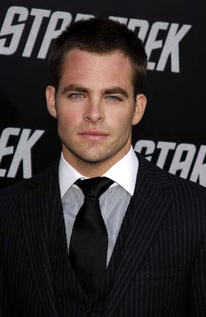 Chris Pine at the Los Angeles premiere of Star Trek held at the Graumans Chinese Theater in Hollywood on April 30, 2009.